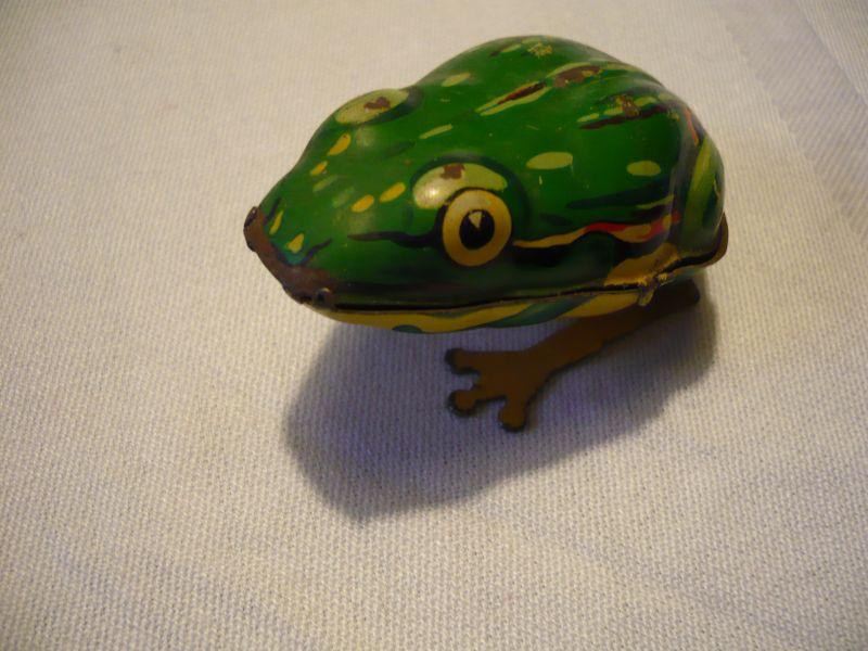 Blechspielzeug - Spring-Frosch - Schlüsselwerk (634)