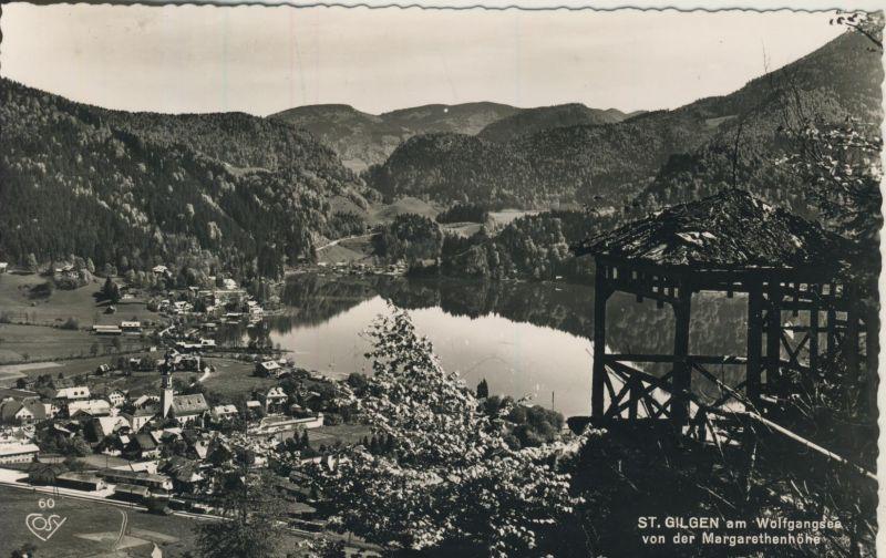 St. Gilgen v. 1965 Dorfansicht mit den Wolfgangsee (AK1229)