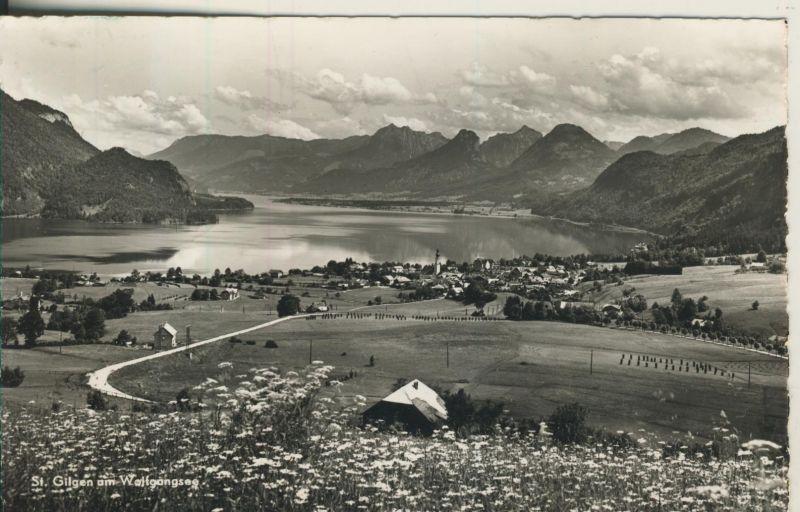 St. Gilgen v. 1965 Dorfansicht mit den Wolfgangsee (AK1230)