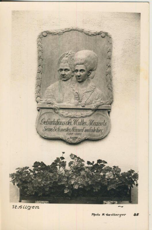 St. Gilgen v. 1965 Geburtshaus der Mutter Mozarts (AK1232)