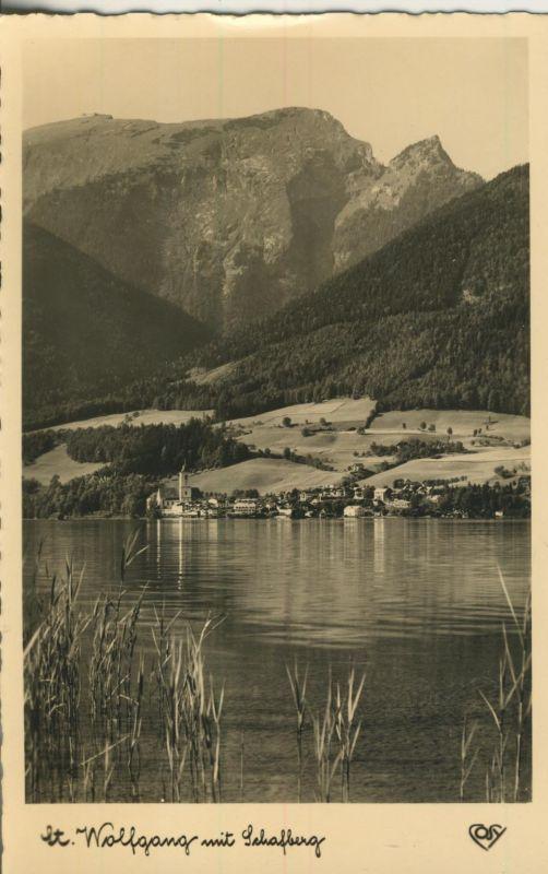 St. Wolfgang v. 1963 Dorfansicht und der See (AK1234)