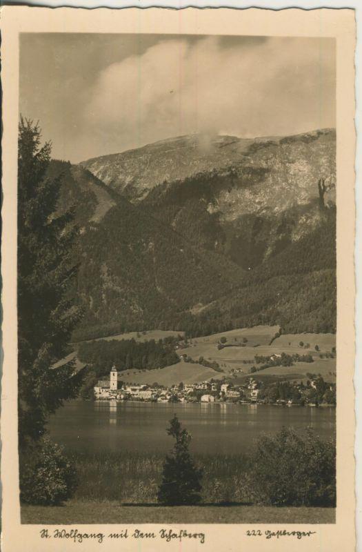 St. Wolfgang v. 1963 Dorfansicht und der See (AK1235)