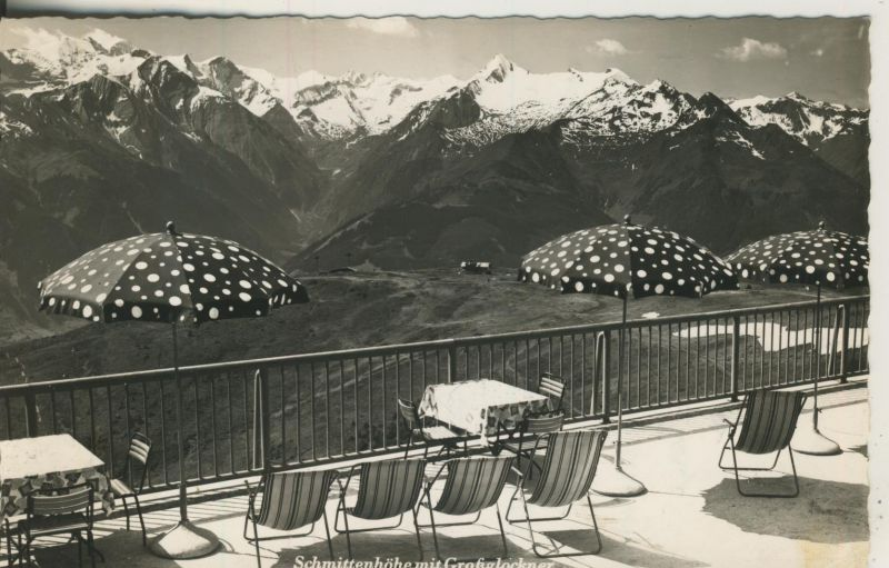 Zell am See v. 1958 Schmittenhöhe mit Großglockner (AK1238)