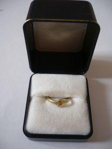 Damenring - 585 gelbgold mit kleinem Brillanten (648)