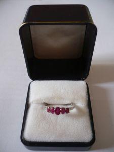 Rubin-Ring - Sterling Silber 925/000 (650)