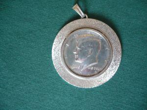 Silber-Münz-Anhänger - Half-Dollar (654)