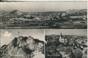 Nikolsburg v. 1972 Stadtansicht mit der Burg,Südmähren Kreuz,Kleinschwelnbarth (AK1275)