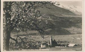 Absam v. 1962 Dorfansicht mit Gletscher (AK1282)