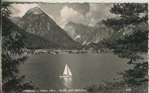 Pertisau v. 1953 Der Achensee mit Dorfsicht (AK1284)