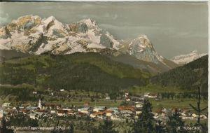 Krün v. 1969 Dorfansicht gegen Zugspitzgruppe (AK1286)