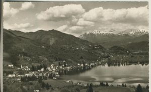 Ponte Tresa v. 1959 Dorfansicht mit See (AK1294)