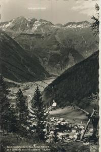 Mallnitz v. 1961 Total Dorf Ansicht im Tal mit Berglift zur Häusleralm (AK1335)