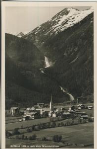 Krimml v. 1961 Teil-Dorf-Ansicht mit den Wasserfällen (AK1340)