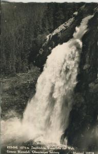 Krimml v. 1961 Zweithöchster Wasserfall der Welt (AK1341)