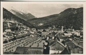 Scharnitz v. 1960 Teil-Dorf-Ansicht mit Baum Allee (AK1354)