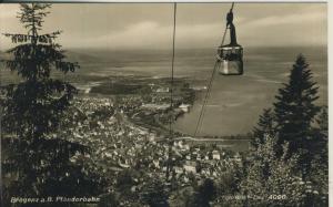 Bregenz v. 1959 Stadtansicht mit Pfänderbahn (AK1362)