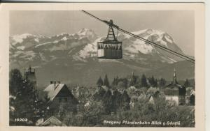 Bregenz v. 1952 Pfänderbahn mit Blick gegen Säntis (AK1367)