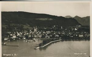 Bregenz v. 1938 Teil-Stadt-Ansicht mit den Hafen (AK1369)