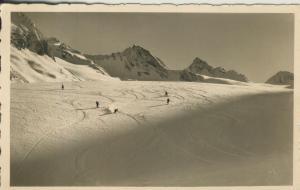 Ober-Gurgl v. 1956 Abfahrt auf dem Gletscher (AK1370)