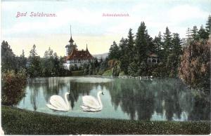 Bad Salzbrunn - Schwedenteich von 1919 (011AK)