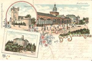 Bad Salzbrunn - 3 Ansichten von 1899 (015AK)
