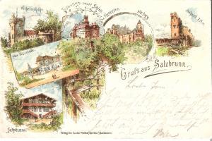 Gruss aus Salzbrunn - 6 Ansichten von 1898 (016AK)