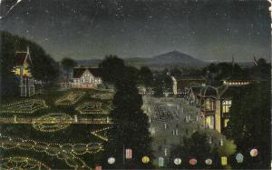 Bad Salzbrunn - Illumination der Kuranlagen von 1919 (021AK)