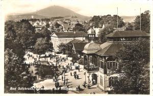 Bad Salzbrunn - Elisenhalle mit Hochwald von 1938 (023AK)