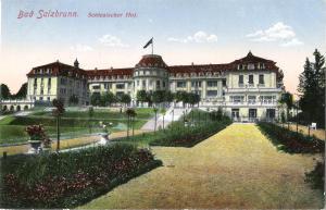 Bad Salzbrunn - Schlesischer Hof von 1916 (031AK)