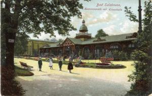 Bad Salzbrunn - Kurpromenade mit Elisenhalle von 1898 (032AK)