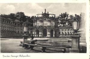 Dresden - Zwinger, Wallpavillionvon 1930 (036AK)