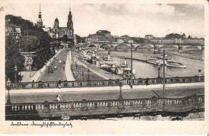 Dresden - Teilansicht - Dampfschifflandungsplatz v. 1920 (039AK)
