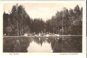 Bad Polzin- Inselgruppe am Karpfenteich von 1915 (071AK)