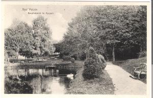 Bad Polzin- Karpfenteich im Kurpark von 1915 (075AK)