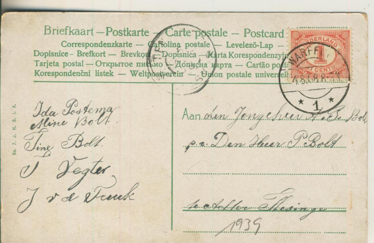 Scheveningen v. 1908 Visscher (AK1939)  1