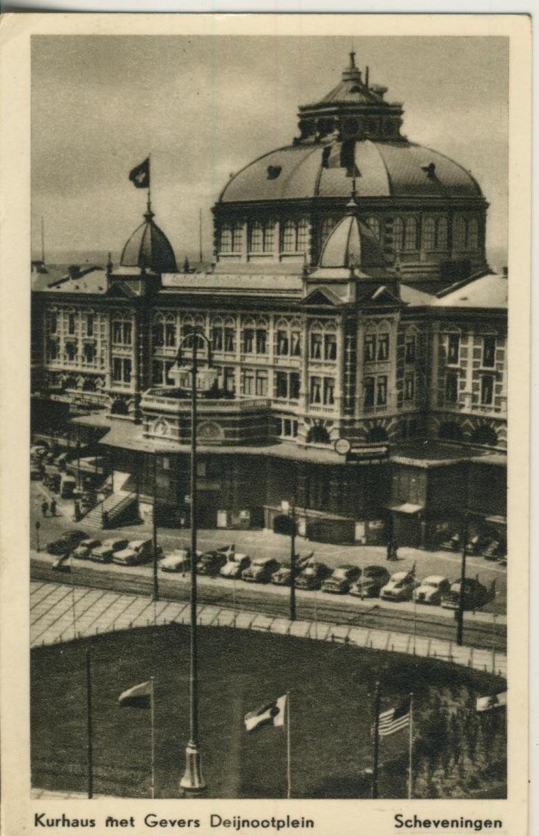 Scheveningen v. 1957 Kurhaus met Gevers Deijnootplein (AK1942)  0