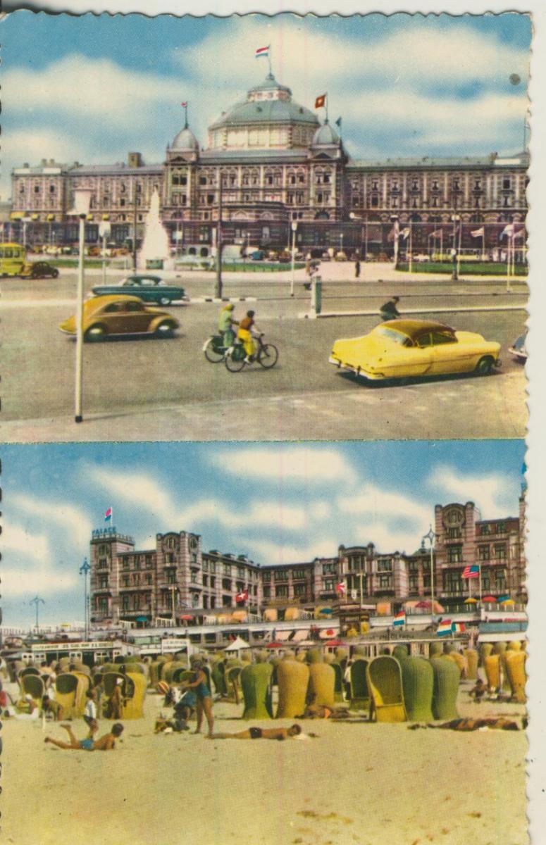 Scheveningen v. 1961 Palace Hotel met Strand (AK1954) 0