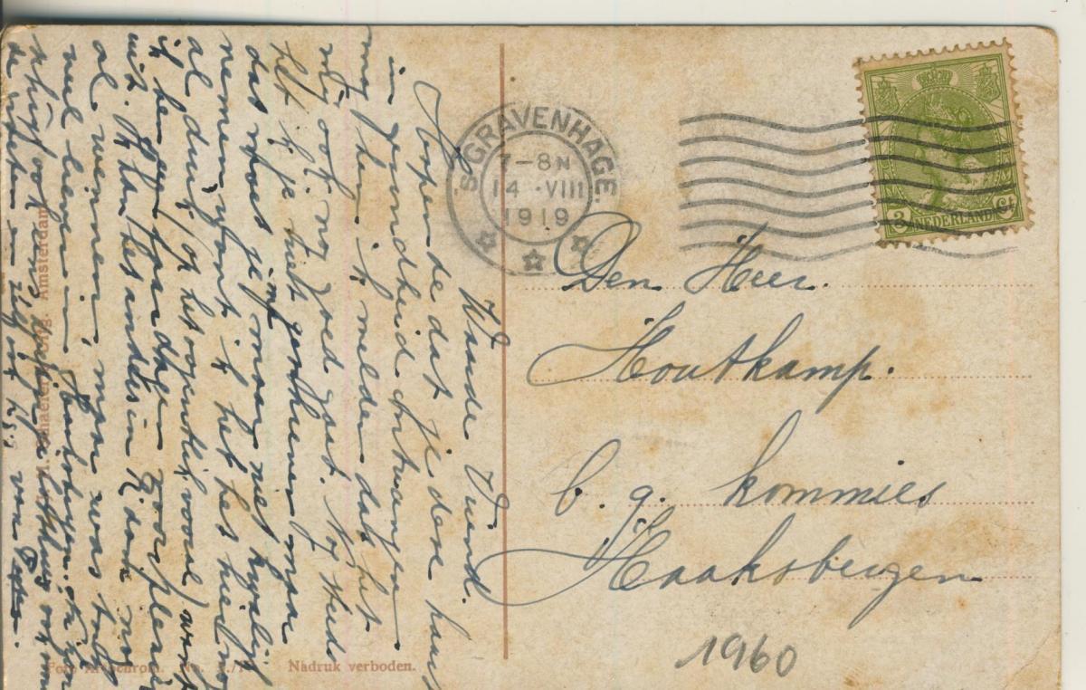 Scheveningen v. 1919 Wandelhoofd met Kurhaus (AK1960) 1