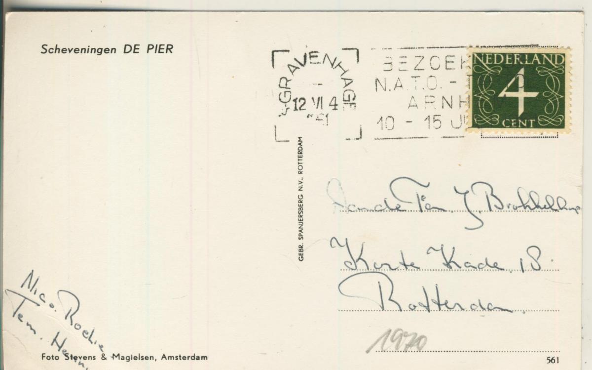 Scheveningen v. 1961 Pier (AK1970) 1