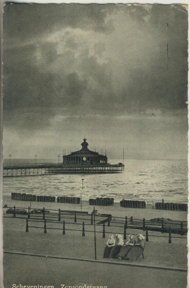 Scheveningen v. 1948 Pier met Zonsondergang (AK1972) 0