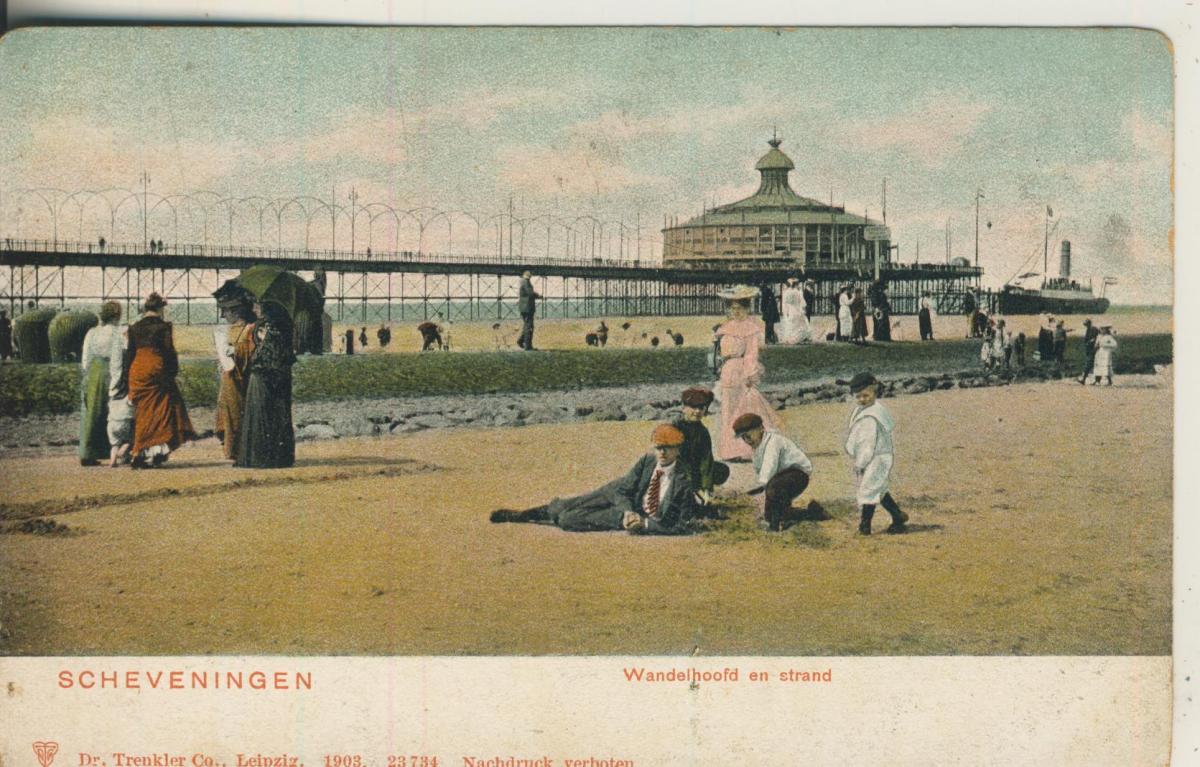 Scheveningen v. 1905 Wandelhoofd en strand (AK1979) 0