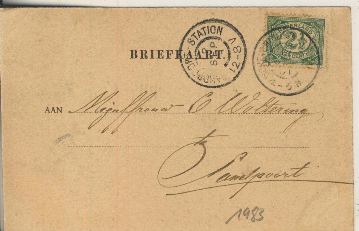 Scheveningen v. 1901 Wandelhoofd (AK1983) 1