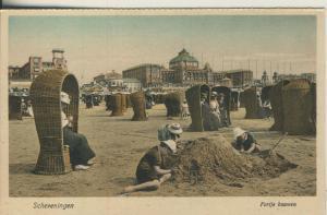 Scheveningen v. 1910 Fortje bouwen (AK1988)