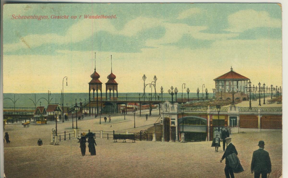 Scheveningen v. 1905 Gezicht op t Wandelhoofd (AK1989) 0