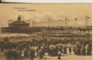 Scheveningen v. 1910 Strand en Wandelhoofd (AK1993)