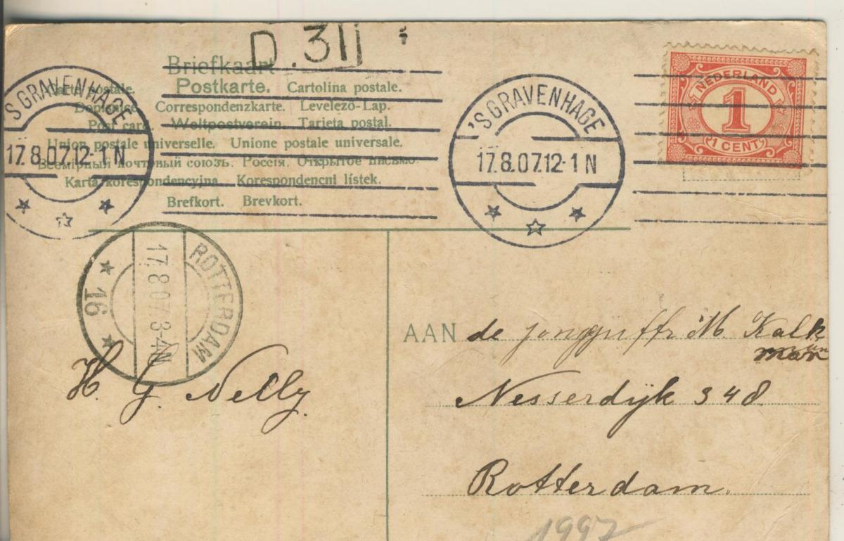 Scheveningen v. 1907 Onder het Wandelhoofd (AK1997) 1