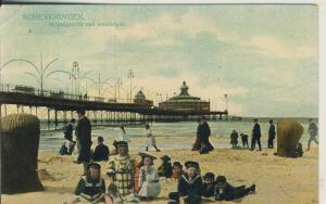 Scheveningen v. 1910 Strandgezicht met wandelpier (AK1998)