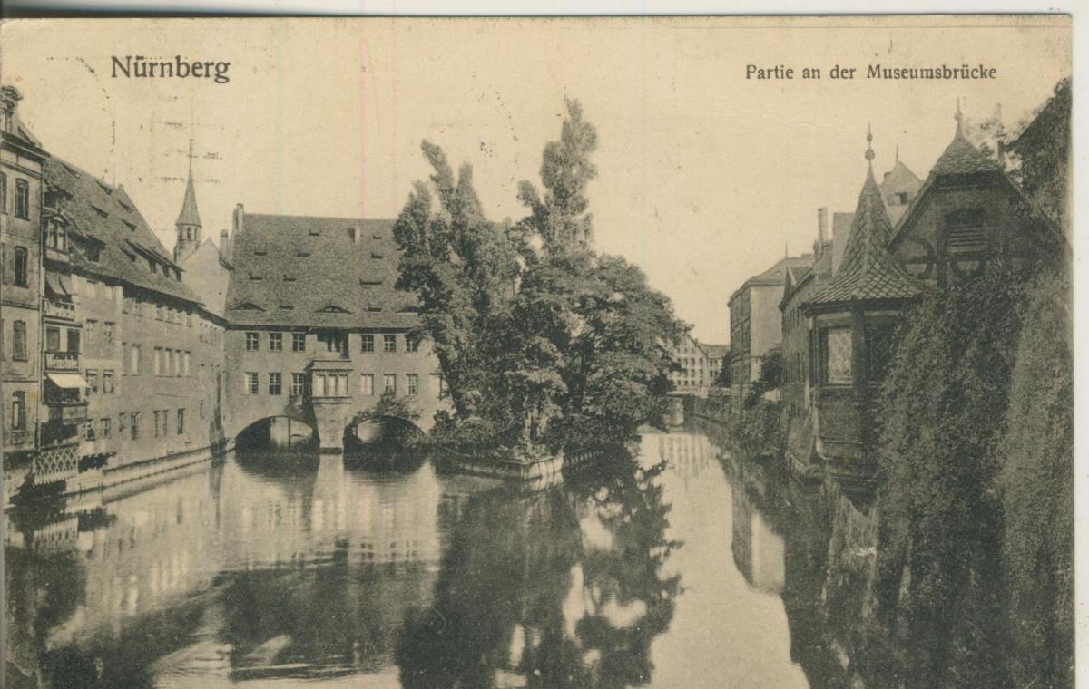 Nürnberg v. 1914 Partie an der Museumsbrücke (AK1602) 0