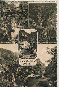 Bodetal / Harz v. 1958  - 5-Ansichten und Hotel \\\