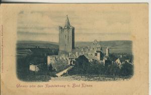 Bad Kösen v. 1899 Gruß von der Rudolfsburg (AK1687)
